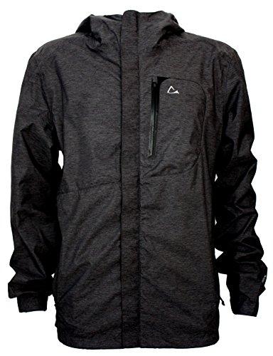b7d695a91b1 Paradox Mens Waterproof Breathable Rain Jacket Medium Black - Wetland Tools