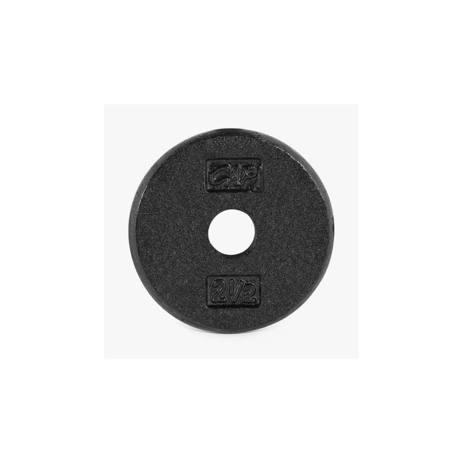 .CAP Barbell Standard Free Weight Plate, 1 Inch, Pound, Black