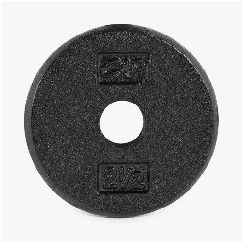 CAP Barbell Standard Free Weight Plate, 1 Inch, Pound, Black