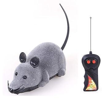 Qwhome Eléctricos Juguetes para Gatos Gato Remoto Control De Animales Juguetes para Mascotas Ratón Teledirigido,Gray: Amazon.es: Deportes y aire libre