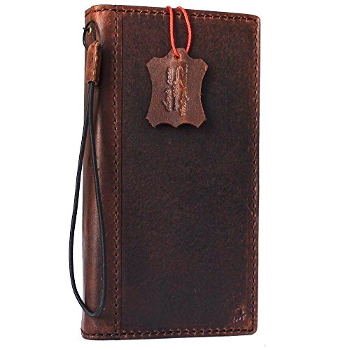 Genuine Vintage Leather Case for Samsung Galaxy S8 active Book Wallet Luxury holder Cover S Handmade Retro Id cards slots s 8 slim DavisCase