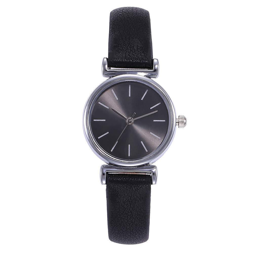 BBestseller Moda Reloj de Pulsera V359,Cuarzo Romana Cuero de Imitación Relojes Regalo Ropa de turista Relojes Deportivos (Negro 1): Amazon.es: Relojes