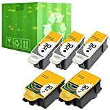 5 Pack 30XL Black & Color Ink Cartridges for Kodak ESP Office 2150 2170 Printer (5 Pack 30XL Ink Cartridge)