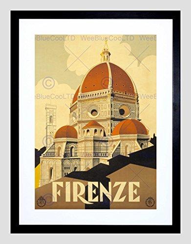 Y BASILICA SANTA MARIA FIORE FRAMED ART PRINT B12X11342 (Florence Framed)