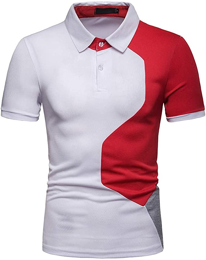 Malloom_Shirts Homme - Polo - Liso - Clásico - Manga Corta - para ...