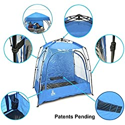 EasyGO CoverU Sports Shelter – 2 Person Weather Tent and Sports Pod – Patents Pending