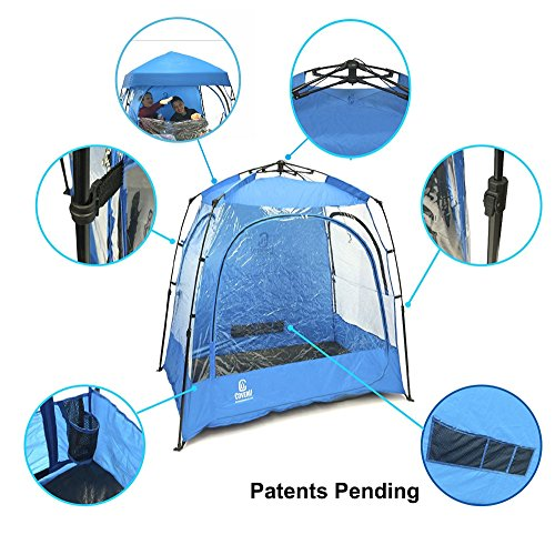 EasyGO CoverU Sports Shelter – 2 Person Weather Tent and Sports Pod...