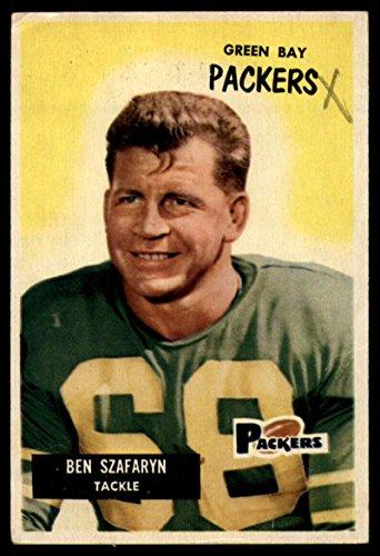 Football NFL 1955 Bowman #86 Len Szafaryn UER G/VG Good/Very Good Packers
