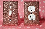 SET OF ROSE GOLD Glitter Switch Plate Outlet Covers ALL Styles Available!