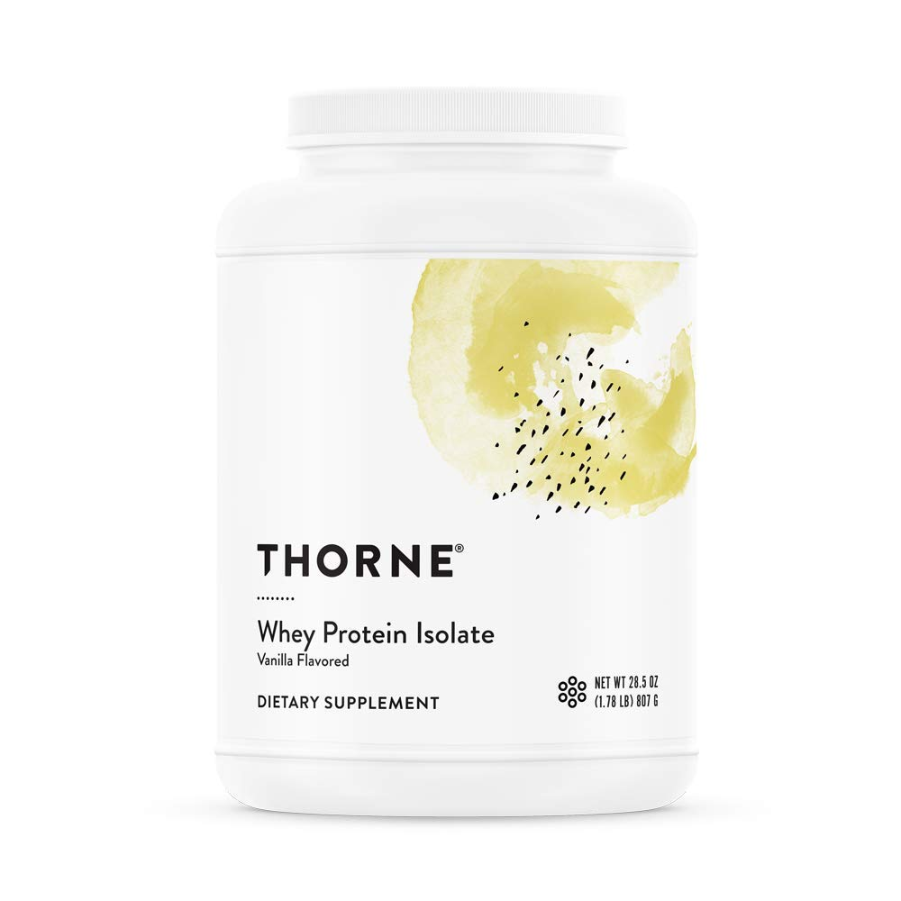 Thorne Research - Whey Protein Isolate (Vanilla Flavor) - Easy-to-Digest Whey Protein Isolate Powder - NSF Certified for Sport - 28.5 oz by Thorne Research