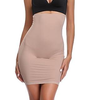 a051799b292c4 High Waist Half Slip Shapewear Women Under Dresses Tummy Control Slimming  Body Shaper