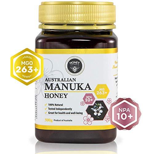 Honey Australia Premium Manuka Honey - Raw & Pure MGO 263+ NPA 10+ Wonderful Rich Tasting Manuka Honey For Everyday Health & Wellbeing 17.6 Oz / 500 g (Best Eczema Cream Australia)