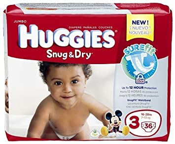 Huggies Snug and Dry Diapers - Size 3 - 36 ct