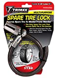 Trimax ST30 Trimaflex Spare Tire Cable Lock (Round Key) 36' x 12mm
