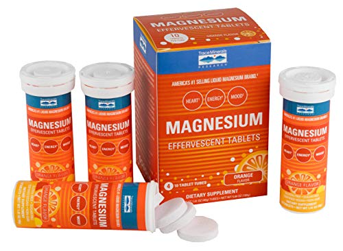 (Trace Minerals Magnesium effervescent Tablets, 4 Pack, Orange Flavor )
