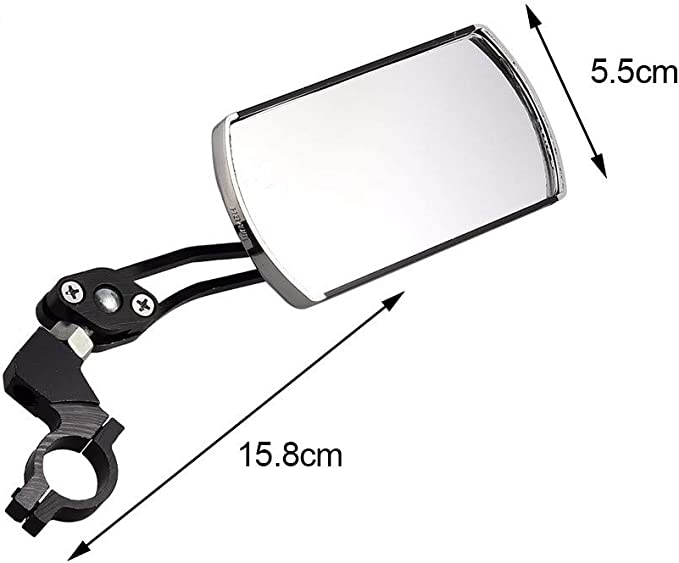 2x Bicycle Mirror Round Rigid Rear View Mirror Handlebar Mirror Safety