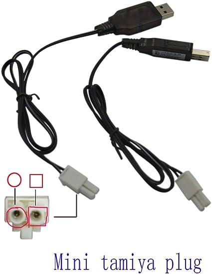 Cable de Carga USB para Coche RC 9.6 V 200mA