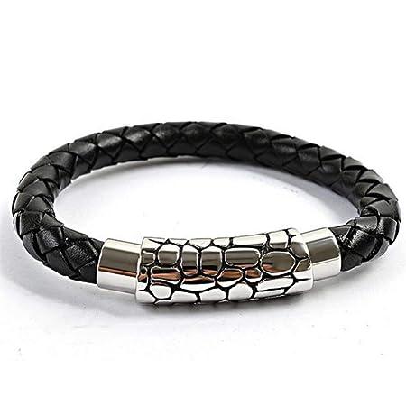 Noble brazalete pulsera de cuero ajustable nuevo!
