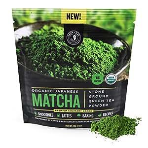 Jade Leaf Matcha Green Tea Powder - USDA Organic, Authentic Japanese Origin - Premium Culinary Grade (Smoothies, Lattes, Baking, Recipes) - Antioxidants, Energy [30g Starter Size]