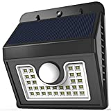 Vivii Solar lights, 30 led Bright LED Security Lighting Outdoor Motion Sensor Lighting for Garden, Patio, Fencing, and Pathway Gear And Gadgets Vivii