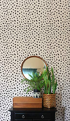 Painting Wallpaper - Cheetah Stencils - Cheetah Spots Wallpaper - Animal Print Wall Stencils - DIY Wall Mural Painting - Tribal Wallpaper Stencils