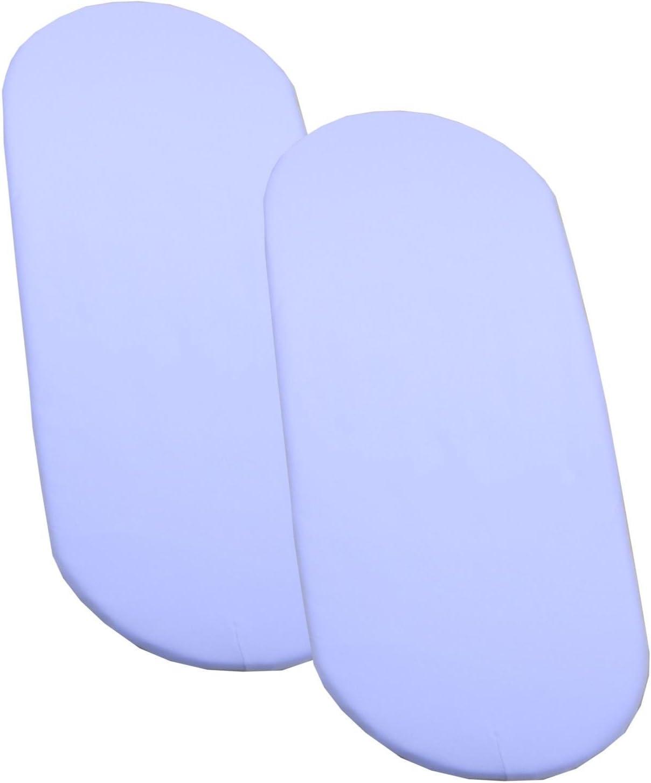 BabyPrem b/éb/é Mo/ïse Bassinet Lot de 2 draps en coton Am/énag/ée 80 x 40cm Bleu