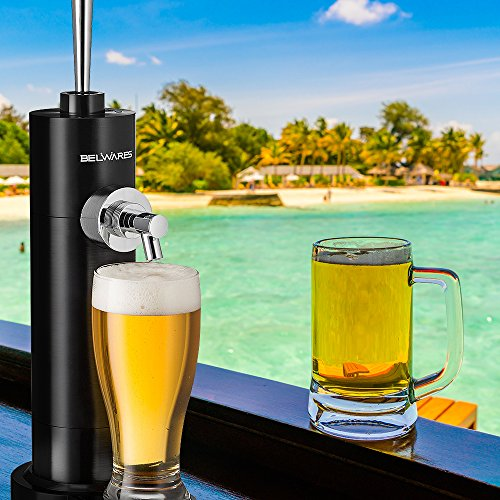 Portable Beer Dispenser, Beer Dispensing Equipment System for One Can to Draft a Good Pint, Works Perfect for 12oz Cans, Great Gift Idea by Belwares (Image #5)