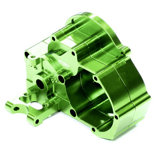 Integy RC Model Hop-ups T8098GREEN Evolution Alloy HD Gearbox for 1/10 Slash 2WD, Electric Stampede 2WD and Rustler