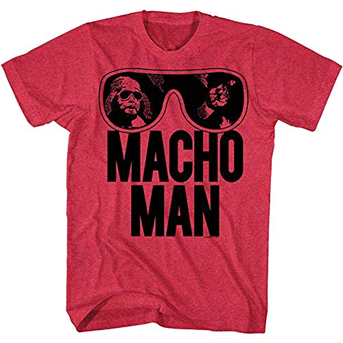 American Classics Macho Man Men's Ooold School T-Shirt Large Cherry -