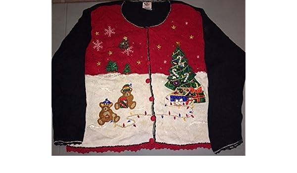 Amazon.com  Vintage Ugly Christmas Sweater Ugliest Ever