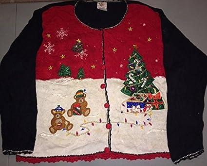 3x Ugly Christmas Sweater.Amazon Com Vintage Ugly Christmas Sweater Ugliest Ever
