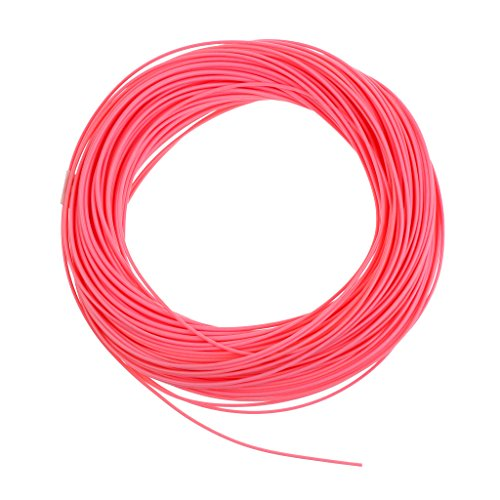 MonkeyJack WF4/5/6/7/8F Trout Salmon Fly Fishing Line 100FT Weight Forward Floating Line Pink - Pink, 8F