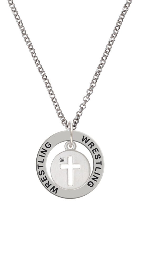 Cross Silhouette - Wrestling Affirmation Ring Necklace