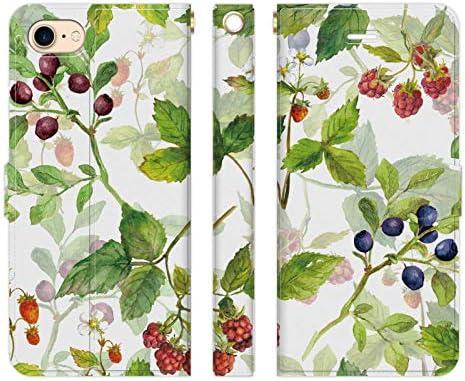 Ruuu iPhone SE 第2世代 2020モデル SE2 手帳型 スマートフォン スマホ ケース カバー 水彩 フルーツ