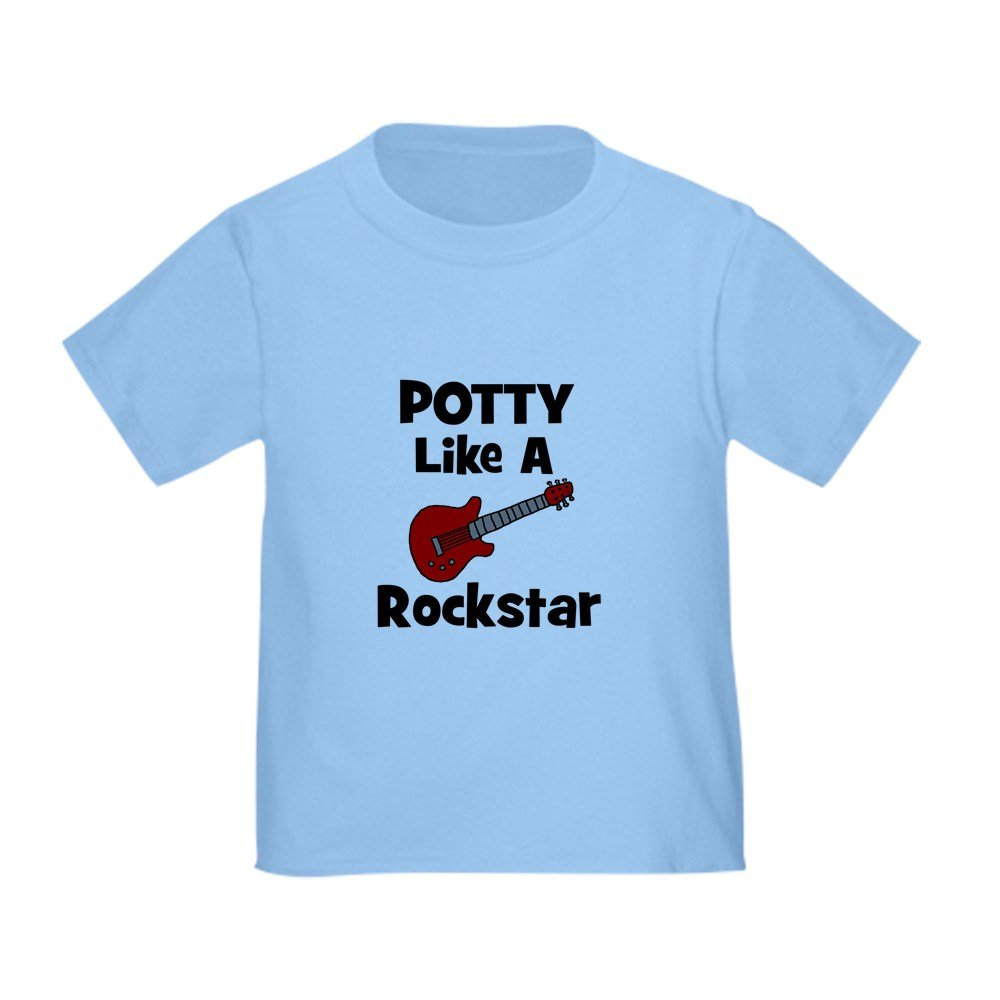 CafePress - Potty Like A Rockstar With Gu Toddler T-Shi - Cute Toddler T-Shirt, 100% Cotton