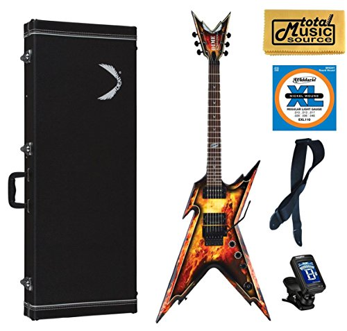 Dean DimeBag Razorback EXPLOSION Guitar, FREE Case Strings Strap Tuner Cloth (Dean Dimebag Electric Guitar Razorback)