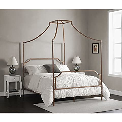 Bailey Brushed Copper Full-size Canopy Bed - Bailey Bedding Canopy Top
