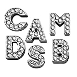Pet Care Preferred 3/8'' Clear Bling Letter Sliding Charms J