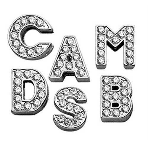 Pet Care Preferred 3/8'' Clear Bling Letter Sliding Charms J by Mirage Pet Products