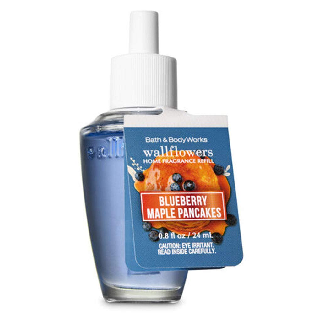 Bath and Body Works 4 Pack Blueberry Maple Pancakes Wallflowers Fragrances Refill. 0.8 Oz.