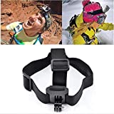Lannmart Durable Camera Adjustable Head Helmet Belt Strap Headband Mount