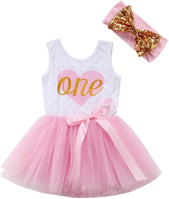 US Newborn Infant Baby Girl Bowknot Sleeveless Tutu Romper Clothes Outfit Set