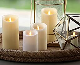 Luminara Flameless Candle: Unscented Moving Flame Candle with Timer (7\