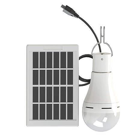 Sigarear solare lampadina,lampada solare da esterno,illuminazione giardino  solare,portatile LED luci con pannello solare per campeggio, pesca, ...