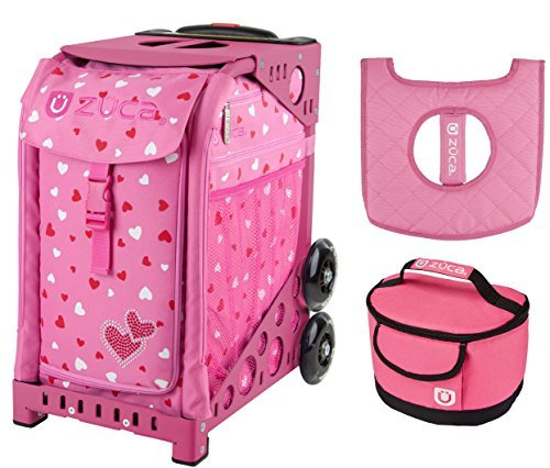 Zuca Sport Bag - Sweetheartz with Gift Lunchbox and Seat Cover (Pink Frame) by ZUCA