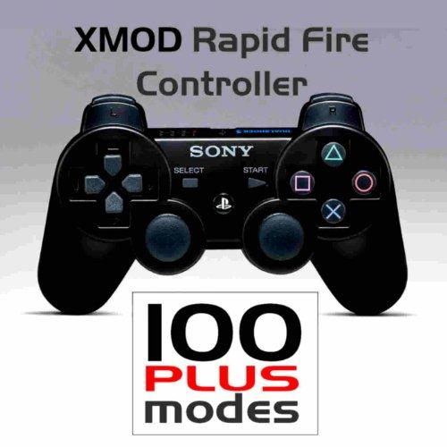 PS3 - PlayStation - SONY Dualshock 3 - Wireless Rapid Fire Modded Controller- XMOD Rapid Fire - 100 PLUS- COD GHOST, BLACK OPS - BLACK