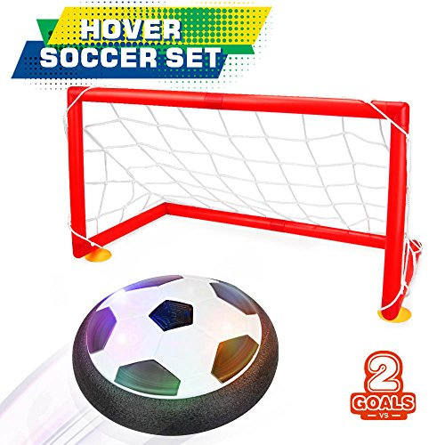Betheaces Kids Toys Soccer Goal Set Hover Football with 2 Gates for Kid Christmas Gifts Sports Boys...