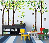 kids bedroom sticker wall murals ANBER Giant Jungle Tree Wall Decal Removable Vinyl Mural Art Wall Stickers for Kids Nursery Bedroom Living Room