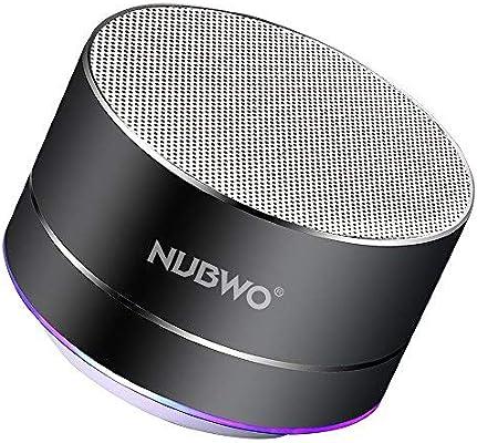 Altavoz Bluetooth, NUBWO A2 Mini Altavoz Portátil de Viaje ...