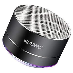 Enceinte Bluetooth, NUBWO A2 Enceinte Bluetooth Mini Portable de Voyage, Enceinte sans Fil avec des Basses Enforcées et des Appels en Mains Libres, Fonctionne avec iPhone, iPad, Samsung - Noir 9